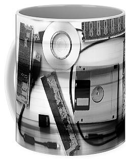 Leftover Tech - Black And White Coffee Mug