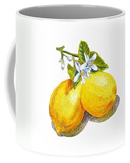 Lemons And Blossoms Coffee Mug by Irina Sztukowski
