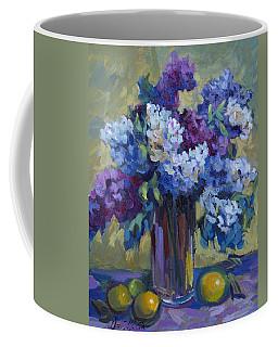Lemons And Lilacs Coffee Mug by Diane McClary