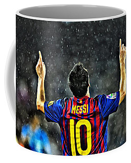 Leo Messi Poster Art Coffee Mug