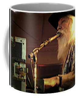 Coffee Mug featuring the photograph Leon Russel Live by Mike Martin