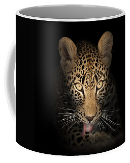 Leopard In The Dark Coffee Mug