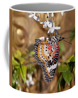 Coffee Mug featuring the photograph Leopard Lacewing Butterfly Dthu619 by Gerry Gantt