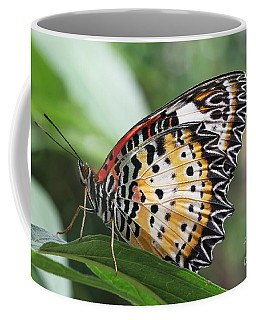 Leopard Lacewing Butterfly Coffee Mug by Judy Whitton