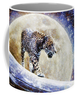 Coffee Mug featuring the painting Leopard Moon by Greg Collins