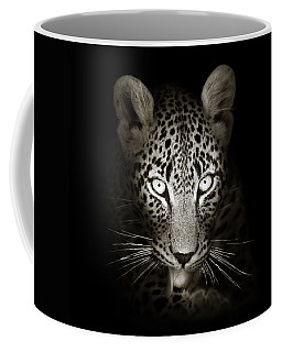 Leopard Portrait In The Dark Coffee Mug