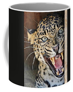 Leopard Snarling Coffee Mug