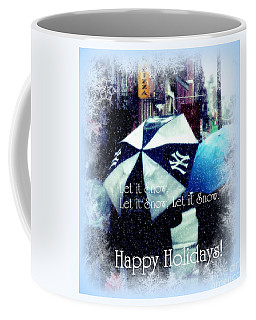 Let It Snow - Happy Holidays - Ny Yankees Holiday Cards Coffee Mug