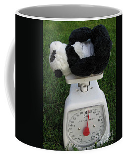 Coffee Mug featuring the photograph Let's Check My Weight Now by Ausra Huntington nee Paulauskaite