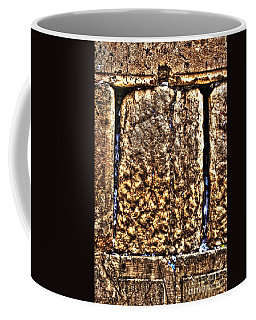 Coffee Mug featuring the photograph Letters In The Wailing Wall by Doc Braham