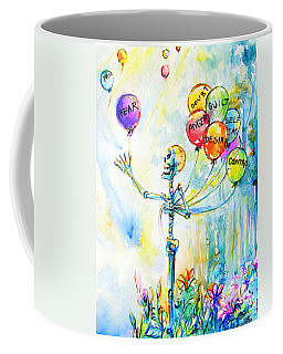 Coffee Mug featuring the painting Letting Go by Heather Calderon