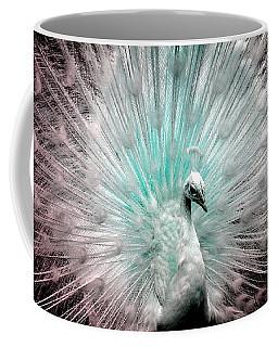 Leucistic White Peacock Coffee Mug