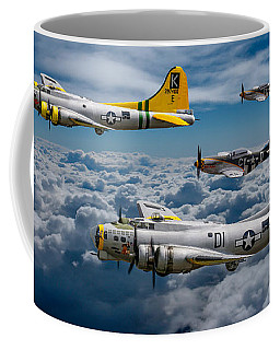 Liberty Belle And Fuddy Duddy With Mustangs Coffee Mug by Ken Brannen