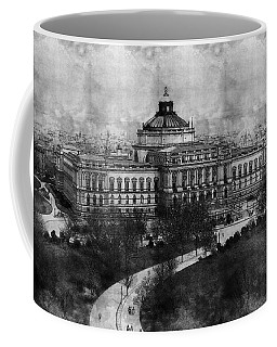 Library Of Congress Washington Dc 1902 Sketch Coffee Mug by Celestial Images