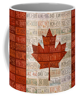 License Plate Art Flag Of Canada Coffee Mug by Design Turnpike