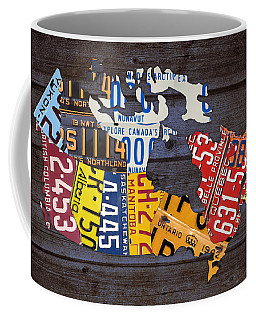 License Plate Map Of Canada Coffee Mug