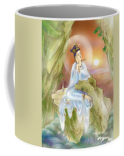 Coffee Mug featuring the photograph Life-extending Kuan Yin by Lanjee Chee