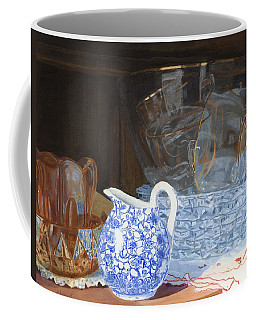 Coffee Mug featuring the painting Life Is A Carnival Glass by Lynne Reichhart