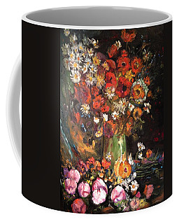 Coffee Mug featuring the painting Life Is Like A Vase Of Flowers by Belinda Low