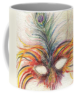 Coffee Mug featuring the drawing Life Of The Party by Rosanne Licciardi
