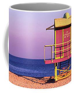 Lifeguard Hut, Miami Beach, Florida, Usa Coffee Mug