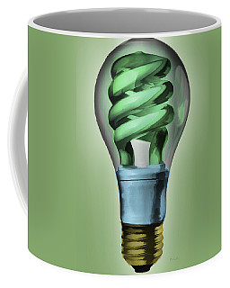 Coffee Mug featuring the painting Light Bulb by Bob Orsillo