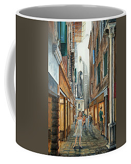 Light From San Salvador Merceria Del Capitello San Marco Venezia Coffee Mug