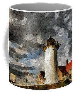 Light House In A Storm Coffee Mug