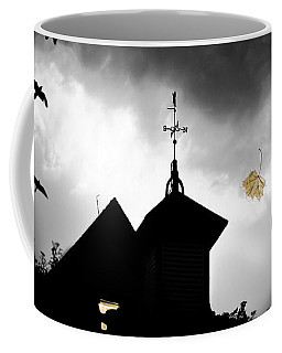 Coffee Mug featuring the photograph Light In The Window by Bob Orsillo