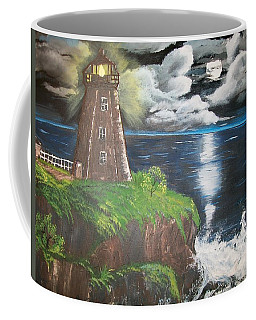 Coffee Mug featuring the painting Light Of The Moon by Sharon Duguay
