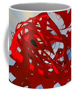 Light On Red - Abstract Coffee Mug