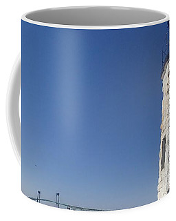 Light On The Bridge Coffee Mug by Robert Nickologianis