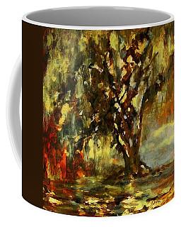 Light Through The Moss Tree Landscape Painting Coffee Mug
