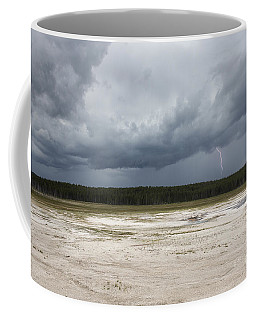 Coffee Mug featuring the photograph Lightening At Yellowstone by Belinda Greb