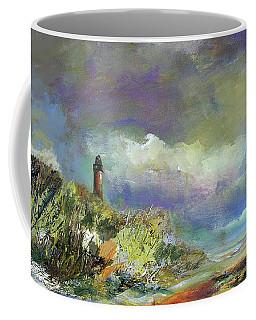 Lighthouse And Fisherman Coffee Mug