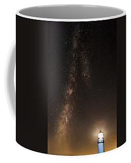 Lighthouse And Milky Way Coffee Mug