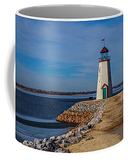 Lighthouse At East Wharf Coffee Mug