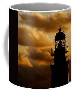lighthouse dawn in the north coast of Menorca Coffee Mug by Pedro Cardona
