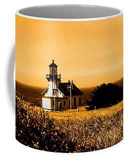 Lighthouse In Autumn Coffee Mug