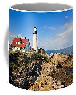 Lighthouse In The Sun Coffee Mug