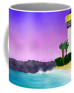 Lighthouse On Beach Coffee Mug