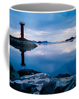 Lighthouse On Blue Coffee Mug