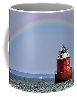 Lighthouse On The Bay Coffee Mug by Brian Wallace