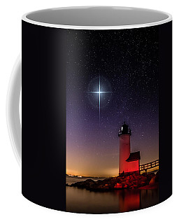 Coffee Mug featuring the photograph Lighthouse Star To Wish On by Jeff Folger