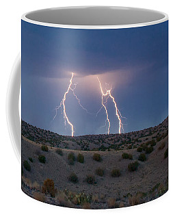 Lightning Dance Over The New Mexico Desert Coffee Mug