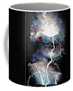 Coffee Mug featuring the painting Lightning by Daniel Janda