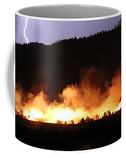 Lightning During Wildfire Coffee Mug