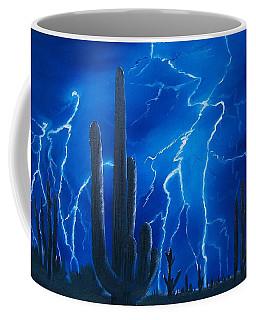 Lightning  Over The Sonoran Coffee Mug