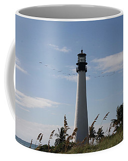 Coffee Mug featuring the photograph Ligthouse - Key Biscayne by Christiane Schulze Art And Photography
