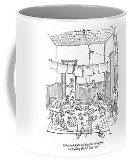 Like A Duck. Calm And Placid On The Surface Coffee Mug